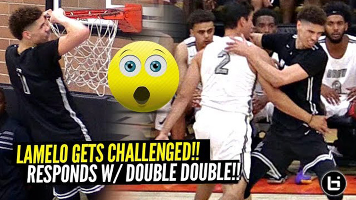 LaMelo Ball Gets CHALLENGED & Responds w/ SAUCY Double Double at Drew League!!