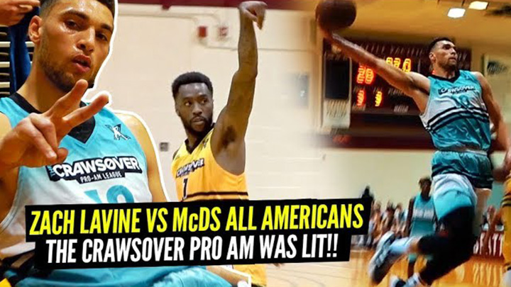 Zach LaVine vs TWO McDonald's All Americans & Tony Wroten at The Crawsover!!