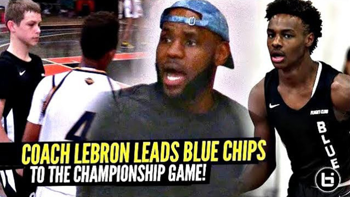 LeBron James Coaches Bronny & Blue Chips To HUGE Win & Gives Them Advice!!