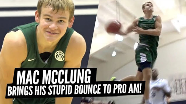 Mac McClung JUMPS OUT THE GYM During PRO AM Game at Kenner...