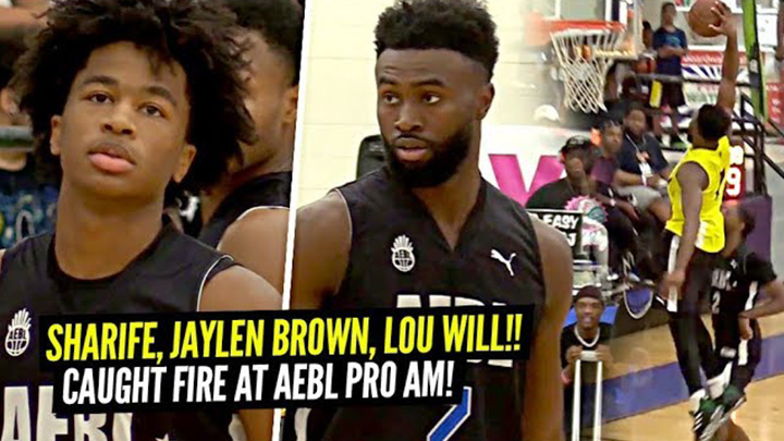 Sharife Cooper & Jaylen Brown vs Lou Williams at AEBL Pro AM!!! Sharife GETS SHIFTY!
