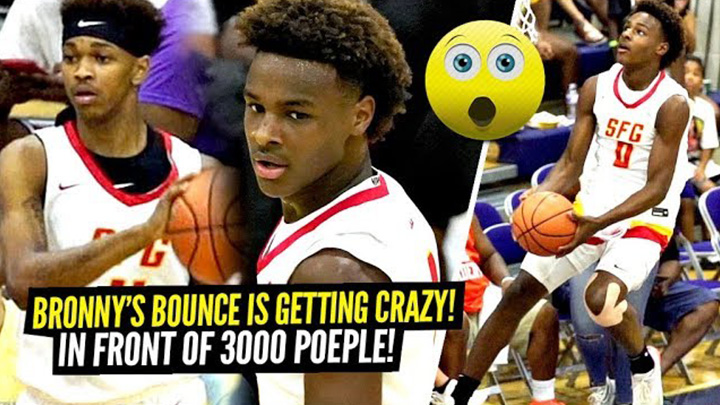 3000 People Came To Watch The BRONNY JAMES SHOW Try CRAZY Dunks!!