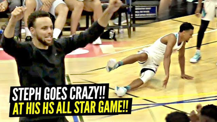 Steph Curry Goes Wild After Nasty Ankle Breaker at SC30 Camp All Star Game!