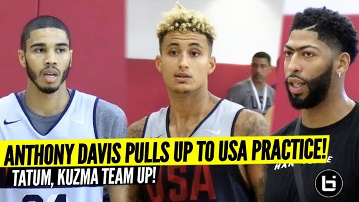 Kyle Kuzma and Jayson Tatum Team Up at USA Basketball! De'Aaron Fox Shows Out!