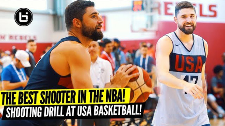 Joe Harris Shows Why He's the 3pt Champ With LIGHTS OUT Performance in USA Basketball Shooting Drills!