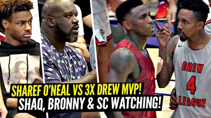 Shaq Pulled up to Watch Shareef O'Neal and Brandon...