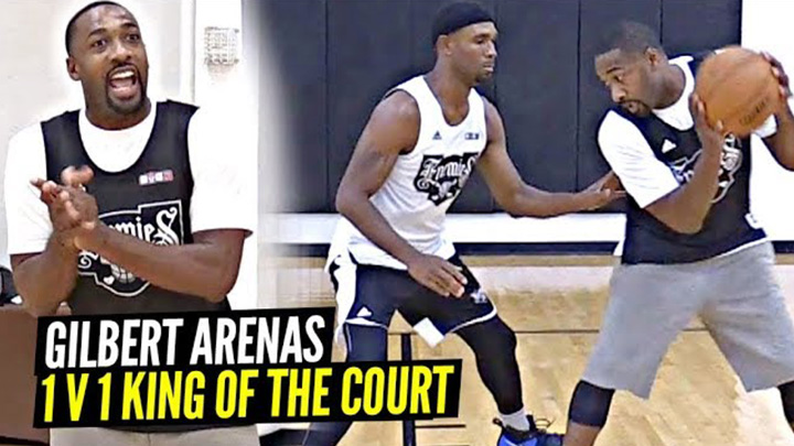 Gilbert Arenas Still Got It! Cooks Everyone at 1v1 King of the Court!