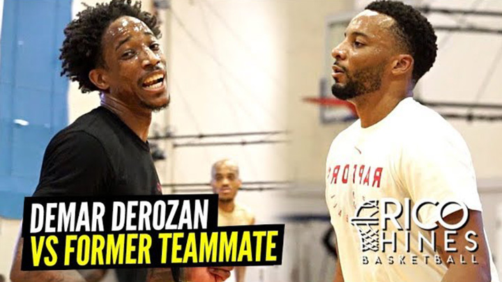 Ex-Teammates DeMar DeRozan and Norman Powell Go at it at Rico Hines Runs!