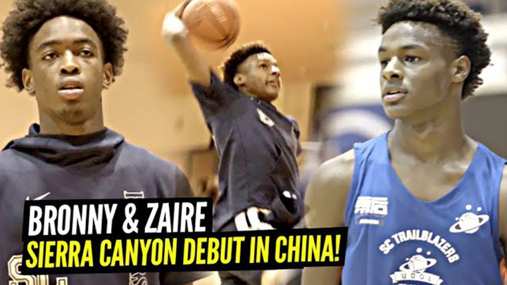 1st Look at Bronny James & Zaire Wade on Sierra Canyon from their China Tour!