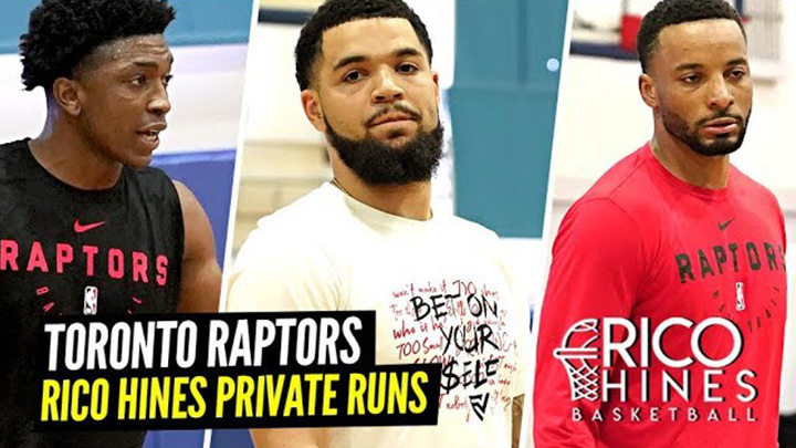 Fred VanVleet & Toronto Raptors Squad Show Out at Rico Hines Private Runs!