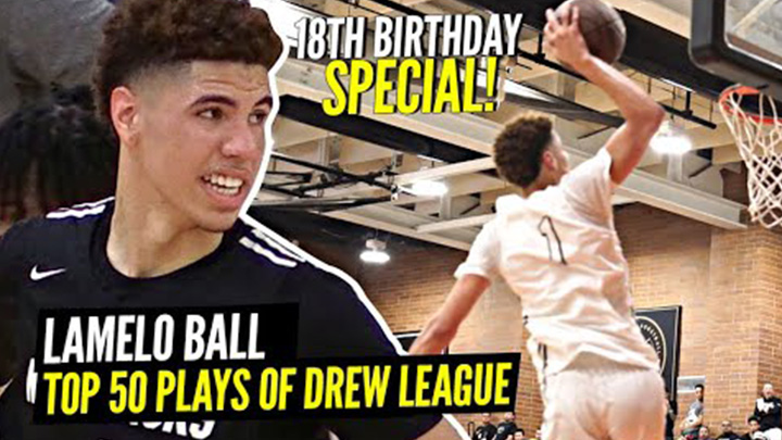 LaMelo Set the Drew League on Fire! Top 50 Plays of the...