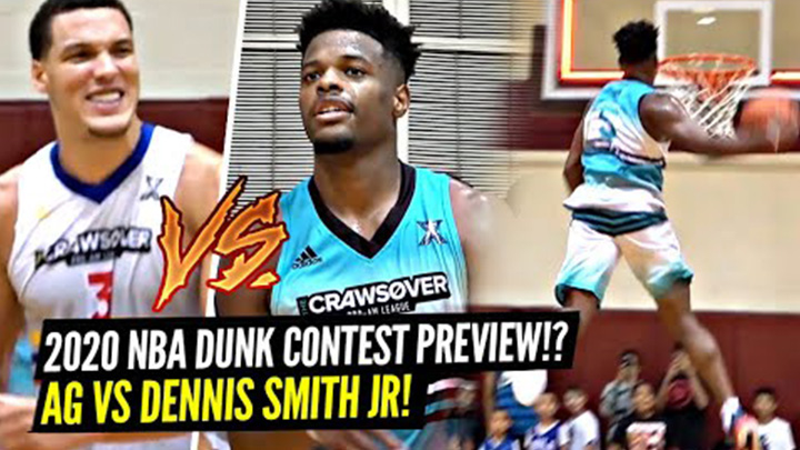 Dennis Smith Jr. and Aaron Gordon Have Insane Dunk Contest Before Crawsover Pro-Am Championship! Dennis Goes For 50!