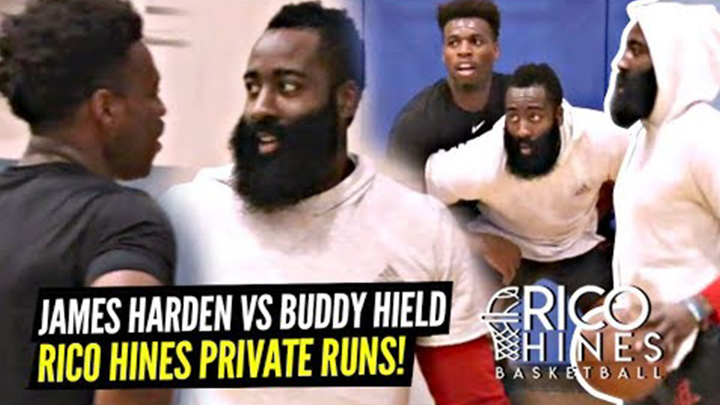 James Harden Goes at it With Buddy Hield at Rico Hines Private Runs!