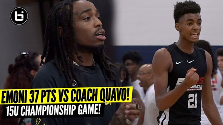 Emoni Bates Drops 37 Points vs QUAVO Huncho & His AAU Team in CHAMPIONSHIP GAME!