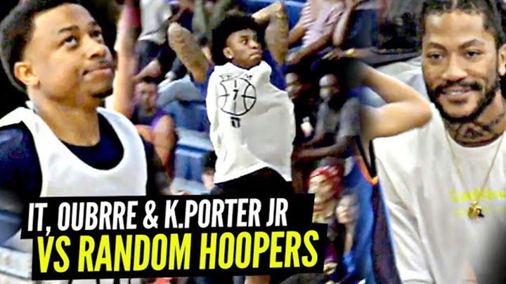 Isaiah Thomas, Kelly Oubre & Kevin Porter Jr. Team Up and Go Off vs Random Hoopers!!