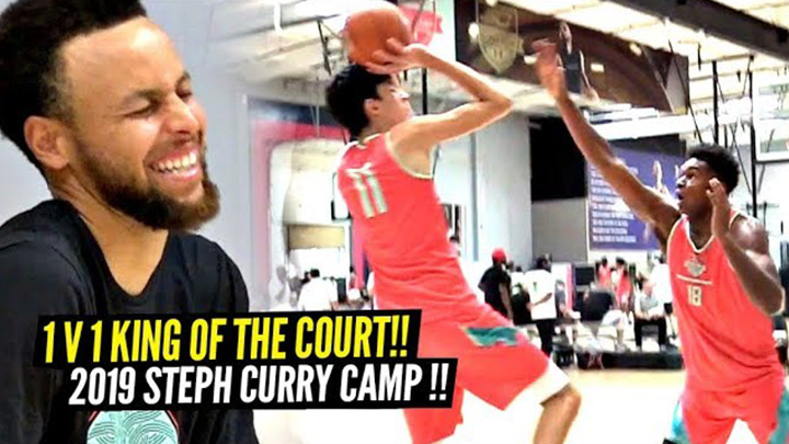 1v1 King of the Court at Steph Curry Camp | 7 Footers Show Off Crazy Guard Skills!