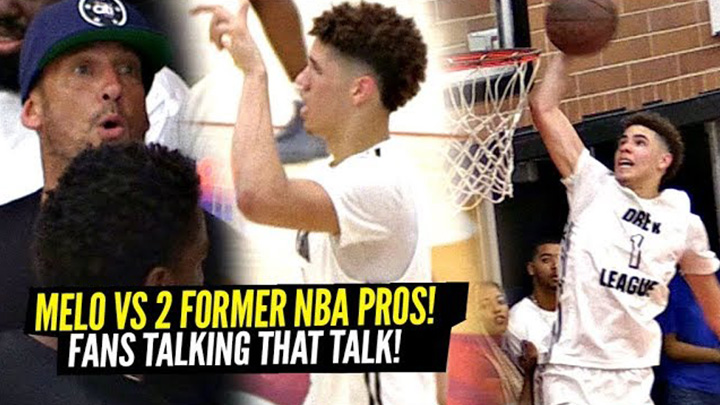 LaMelo Puts Up 31 Points & 13 Assists vs Former NBA Pros Malcolm Thomas and Kasper Ware!