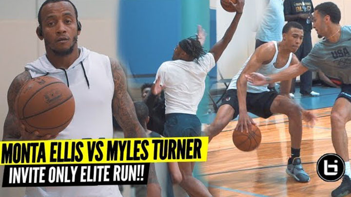 Monta Ellis Still Has What it Takes to Be in the NBA! Myles Turner and RJ Hampton Open Run Highlights!