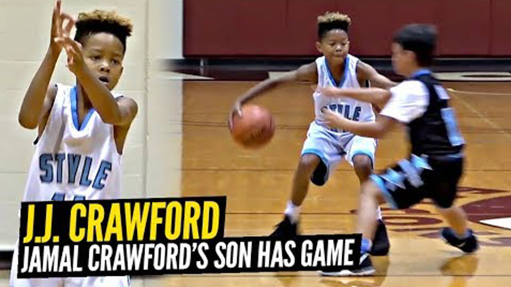 Jamal Crawford's 9 Year Old Son Plays Just Like Him! JJ Crawford Drops 28 in Jr All Star Game!