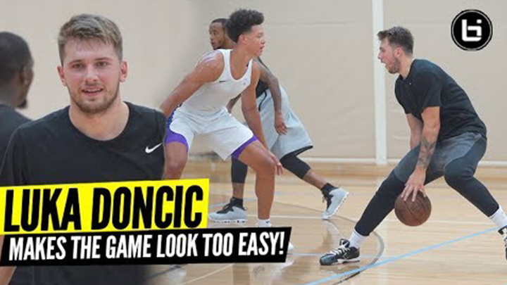 Luka Doncic Shows Off Smooth Game at Pro Open Run!