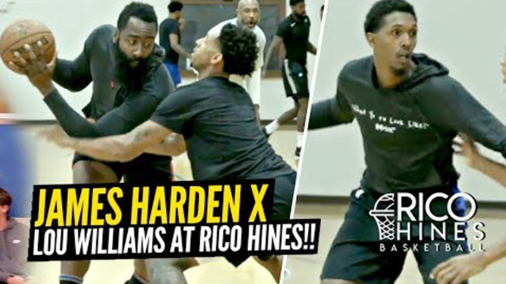 James Harden's One Leg Step Back is a Problem! Hoodie Harden Leads Stacked Session at Rico Hines Private Runs!