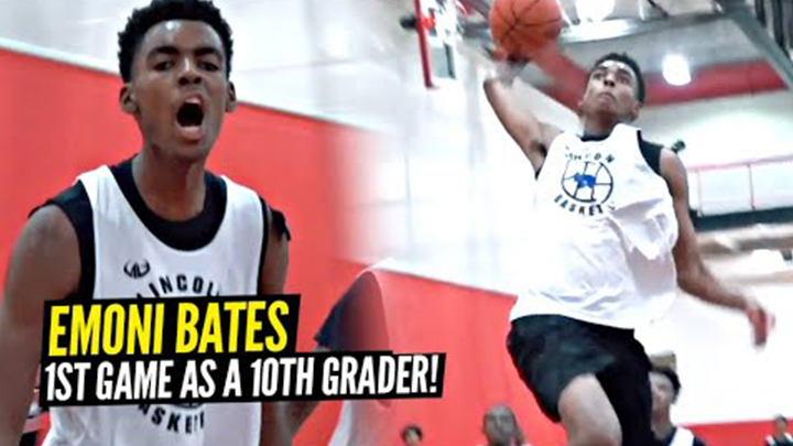 Emoni Bates Pulls Out All the Pro Moves in His First Game as a 10th Grader!