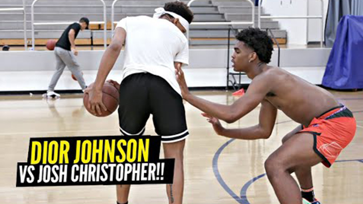Josh Christopher vs Dior Johnson 1v1 King of the Court! Who's Got the Better Moves?