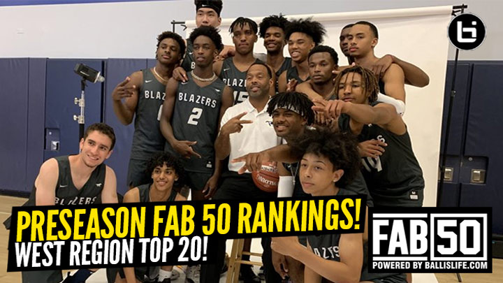 Preseason 2019-20 WEST Region Top 20 Rankings!