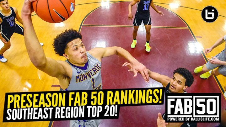 Preseason 2019-20 SOUTHEAST Region Top 20 Rankings!