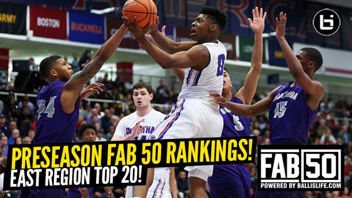 Preseason 2019-20 EAST Region Top 20 Rankings!