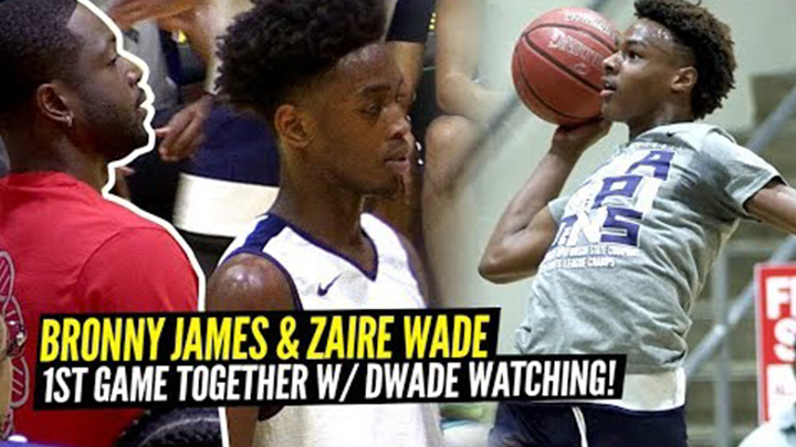Sierra Canyon's First Game with the Whole Squad Got Wild! Dwyane Wade Pulls Up to Watch Bronny & Zaire!