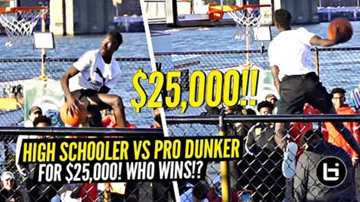 Jimma Gatwech Competes in Dunk Contest for $25k With Pro...