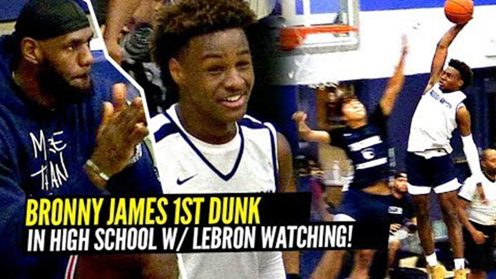 Bronny Throws Down His 1st High School Dunk and Comes THIS...