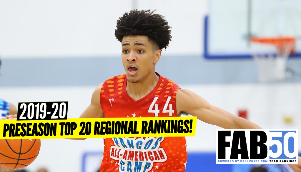 Preseason 2019-20 Top 20 Regional Rankings!