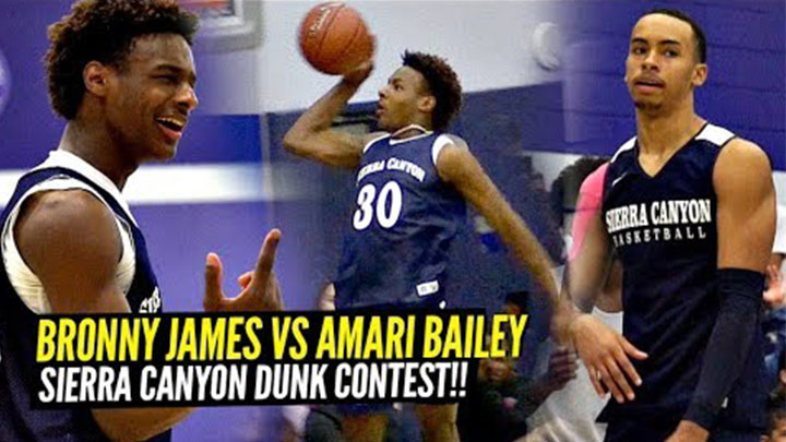 Bronny James & Amari Bailey Shut Down the Dunk Contest at Sierra Canyon Midnight Madness!
