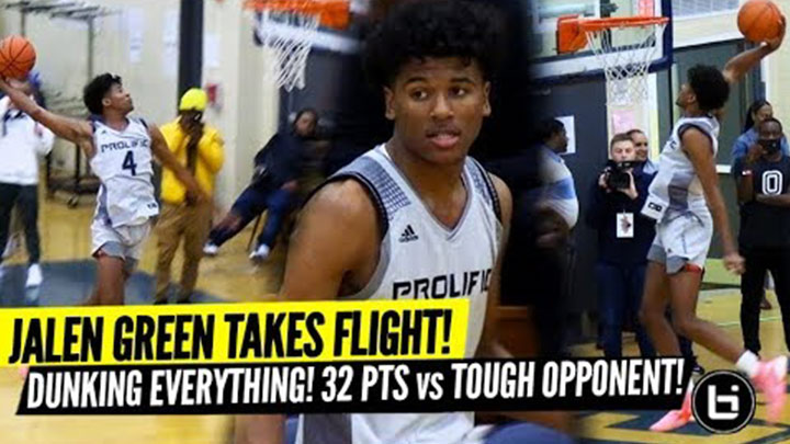 Jalen Green Goes Off For 32 vs TOUGH St. Louis Team!