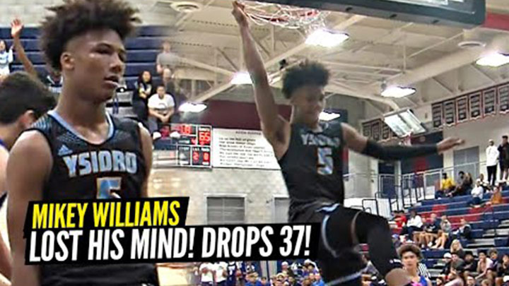Mikey Williams Drops 37 and Throws Down Wild off the...