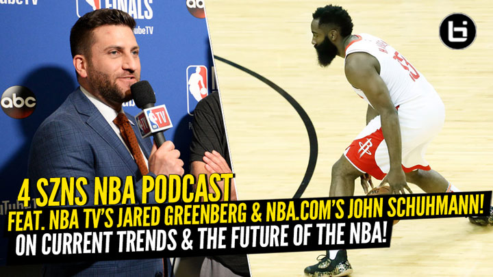 4 SZNS Podcast Joined by NBATV Jared Greenberg and John Schuhmann to discuss analytics, current topics around the league, and basketball evolution.
