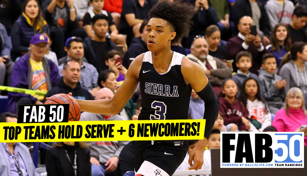 1st UPDATED Regular Season FAB 50 Rankings!