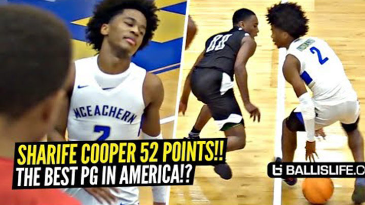 Sharife Cooper Drops 52 One Day After Hitting 44! He's Different!!