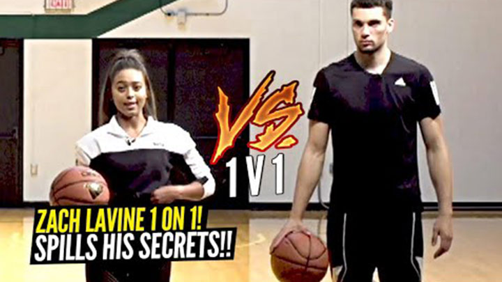 Zach Lavine Plays HORSE with Keke and Talks About How He Keeps Candy in his Socks During Games?