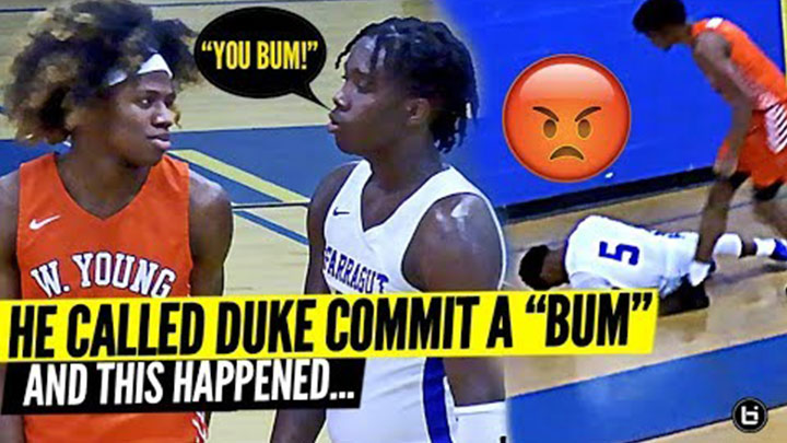 Duke Commit DJ Steward Hits Back at Trash Talkers in TIGHT Game for Whitney Young!