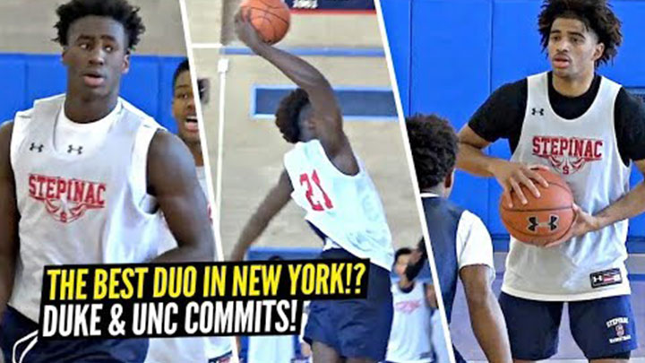 Duke Bound AJ Griffin & UNC Bound RJ Davis are New York's Best Duo!