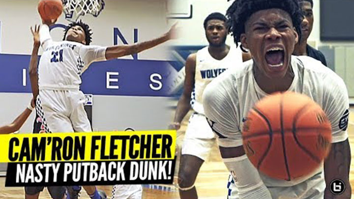 Cam'Ron Fletcher Throws Down NASTY Putback in Home...