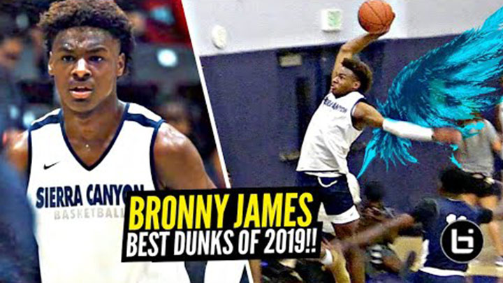 Bronny's Bounce Got Crazy This Past Year! Best Dunks of 2019!
