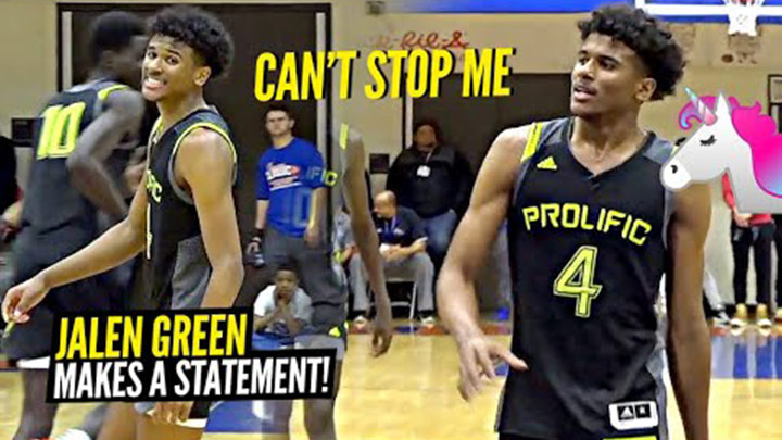 Jalen Green Shows Off COMPLETE Scoring Package and Crazy Bounce vs Huntington Prep!