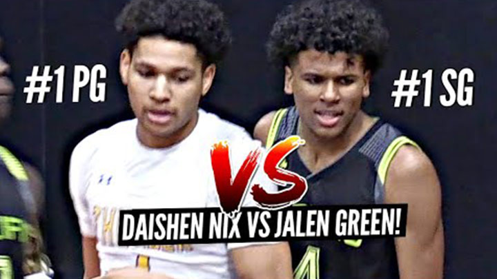 Jalen Green Battles it out vs #1 Ranked PG Daishen Nix!