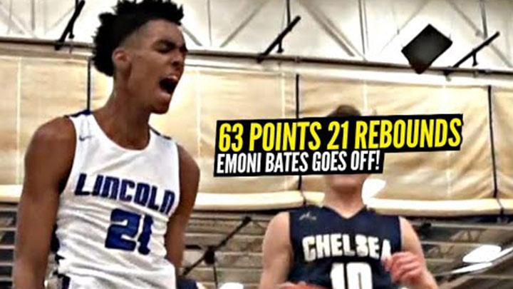 Emoni Bates Snaps for 63 POINTS & 21 REBOUNDS!
