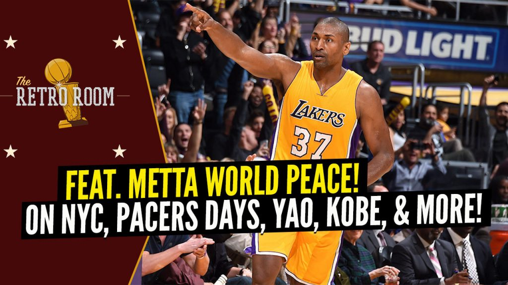 'The Retro Room' Podcast with Metta World Peace! On his Journey, Playing with Kobe, & More!