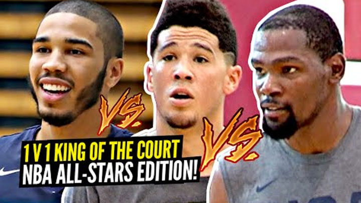 1v1 King of The Court NBA All-Stars Edition!! Kevin Durant,...